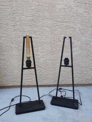 Table lamps (came out of model home) no lamp shade$35 BOTH( light bulb NOT included for Sale in Las Vegas, NV