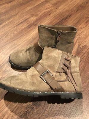 Size 3 suede girl boots for Sale in Woodbridge, VA
