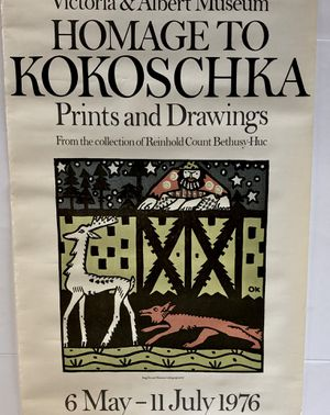 Art Gallery Poster Victoria Albert Museum Homage to Kokoschka for Sale in San Luis Obispo, CA