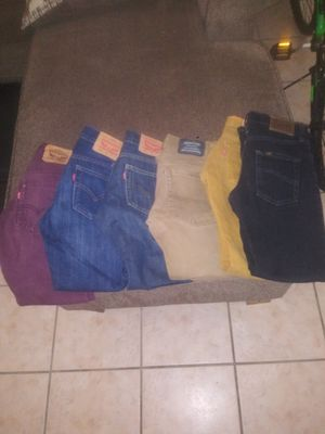 6 Levis size 8 for Boy semi used pants. Half price $50 for all for Sale in Houston, TX