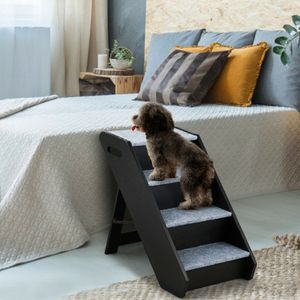 4-Step Wooden Ramp Carpeted Pet Stairs with Handle (h) for Sale in Fontana, CA