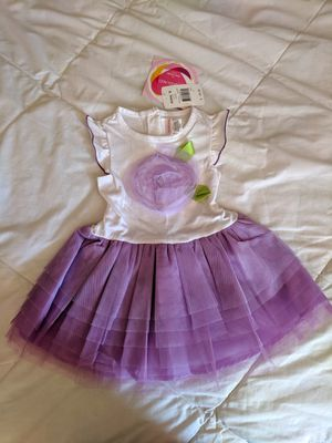 BRAND NEW Beautiful Girls summer dress occasion party purple flower dress Size 2T lace tutu dress gorgeous adorable for Sale in Haddonfield, NJ