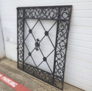 Heavy cast iron wall or structure ornate panel. Some wear, 1 broken piece. for Sale in Irving, TX