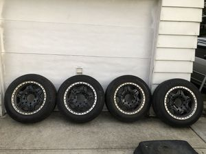 8 lug rims with tire for Sale in Brooklyn, NY