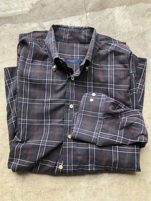 MEN'S VINTAGE CHECK BURBERRY LONDON LONG SLEEVE BUTTON-DOWN SHIRT SIZE M for Sale in San Marcos, TX