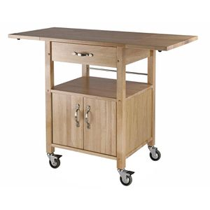 Wood Kitchen Island Cart + Bar stools for Sale in Brooklyn, NY