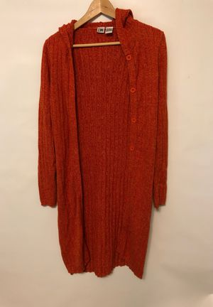 Ladies Long Orange Duster Size Small Woman's Sweater for Sale in Vancouver, WA