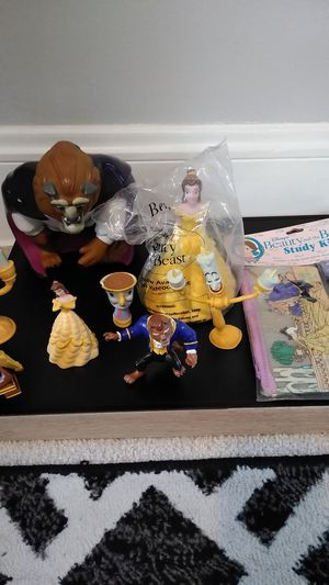 Disney's Beauty and the Beast Lot Vintage Toys, School Kit, Etc.. for Sale in Parma, OH