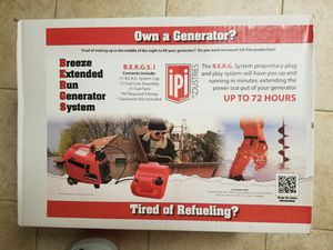 IPI Berg generator extended fuel kit brand new sealed for Sale in San Lorenzo, CA