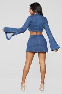 Fashion nova old fling skirt set size Large