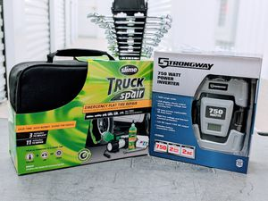 Emergency flat tire repair, wrench and 750 watt inverter for Sale in Houston, TX