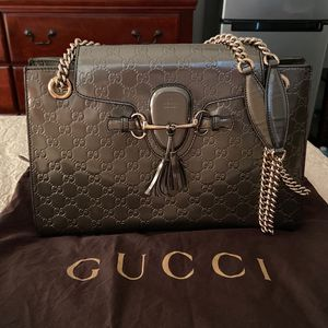 Gucci Emily Chain Flap Bag Guccissima Patent Large for Sale in Santa Ana, CA