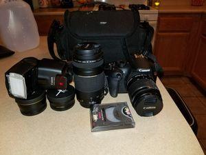 Canon T5 w/ accessories. for Sale in Las Vegas, NV