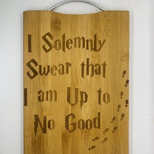 Harry potter book laser engraved bamboo high quality cuttingboard valentines gift for Sale in Los Angeles, CA