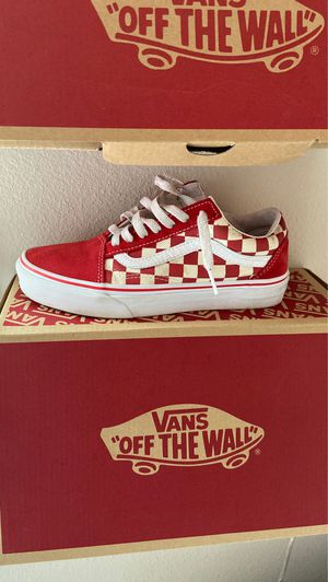Old skool checkered vans , and classic slip on vans for Sale in Kent, WA