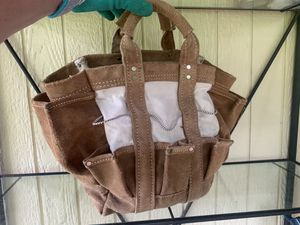 Leather & canvas garden tote for Sale in Hillsboro, OR