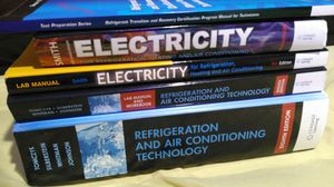 HVACR electricity, refrigeration, and air conditioning technology books for Sale in Newark, NJ
