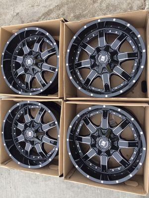 "New 20"" black Rims 20 Off Road Wheels 20s Rines Super Duty F250 Ford F150 , Chevy Silverado, GMC Sierra , Toyota Tacoma / 4Runner , Nissan Titan , An for Sale in Dallas, TX"
