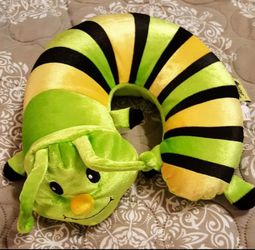 Fun Child Caterpillar Neck Pillow. Bright Yellow, Green N Blue for Sale in Round Rock,  TX