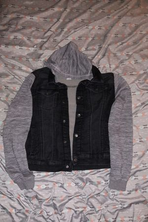 Jean jacket with hoodie for Sale in Orlando, FL