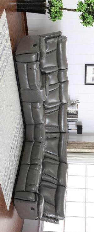 Simon gray reclining sectional sofa for Sale in Houston, TX