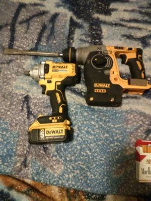DeWalt xr 20vmax brushless motor 1/2 impact wrench & DeWalt xr 20vmax brushless motor SdS rotary hammer drill for Sale in Stockton, CA