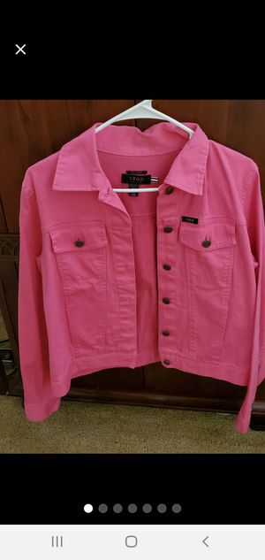 Izod Sz M Hot Pink Jean Jacket for Sale in Vancouver, WA