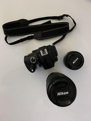Nikon D5000 with Nikkor AF-S 70-300mm and AF-S 35mm lenses for Sale in Rolling Meadows, IL