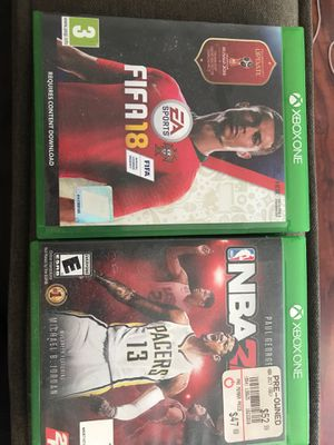 Xbox One FIFA NBA2K for Sale in San Diego, CA