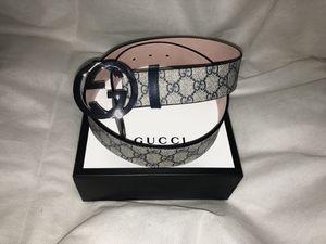 Gucci Navy/Beige Supreme Belt 90cm 30-32 Inch Waist for Sale in Washington, DC