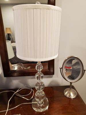 Tall glass crystal lamp with shade for Sale in Penndel, PA