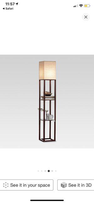 Target/Threshold Shelf Floor Lamp with Energy Efficient Light Bulb for Sale in Queen Creek, AZ