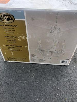 Hampton Bay Kristin 3-Light Antique White Hanging Mini Chandelier for Sale in Chino, CA