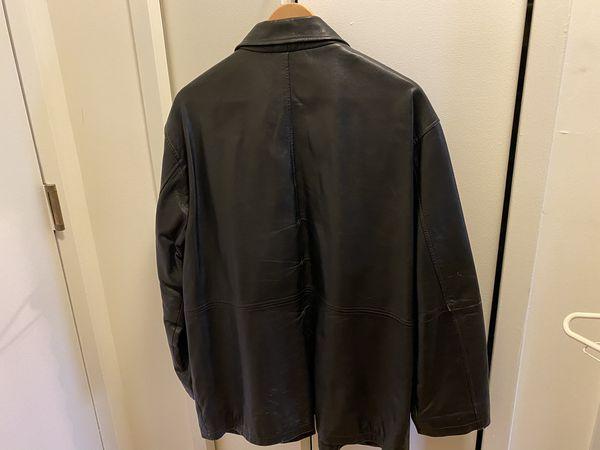 Black Leather Jacket from Paul Fredrick size 48R