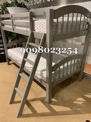TWIN/TWIN BUNK BEDS W ORTHOPEDIC MATTRESS INCLUDED for Sale in Hesperia, CA