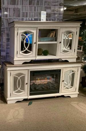 "🍻🍾 $39 Down Payment 🕊      Realyn Chipped White XL TV Stand | W743-68 74""W x 18""D x 36""H 276 for Sale in Jessup, MD"