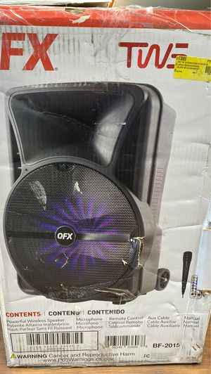 """15"""" portable party speaker for Sale in Kent, WA"""