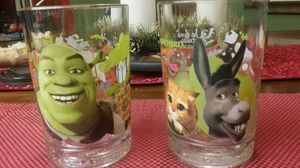 Collectible Shrek The Third glasses for Sale in Dinuba, CA