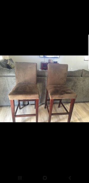 Xmas gift!!! 3 micro fiber chairs in Mocha for Sale in Surprise, AZ