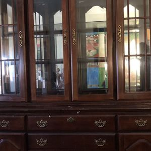 Cherry Brown China Cabinet for Sale in Arlington, VA