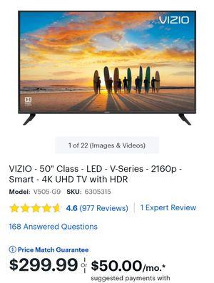 Vizio 50 inch smart tv for Sale in Anaheim, CA