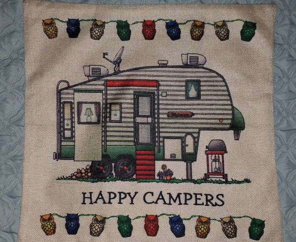 5 th wheel camper trailer pillow cover