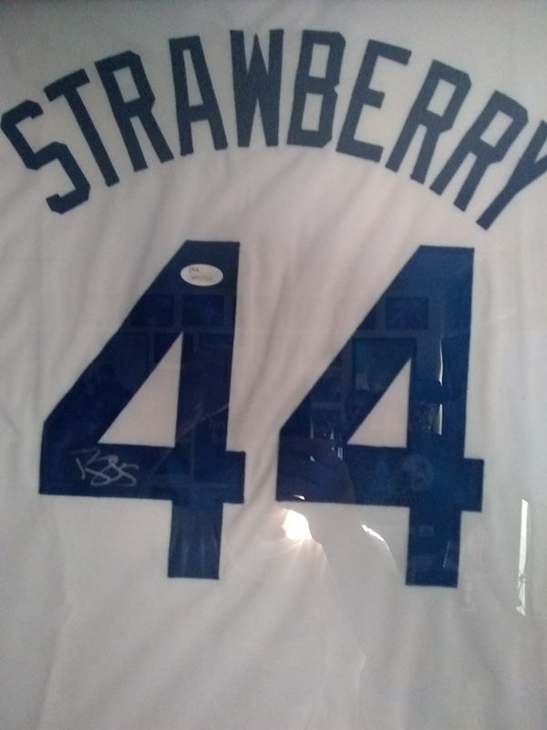 Dodgers Darryl Strawberry signed jersey
