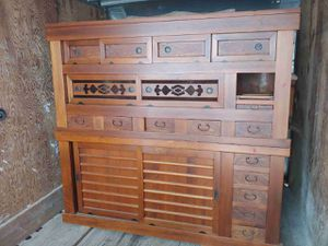 Antique solid wood cabinet for Sale in Pompano Beach, FL