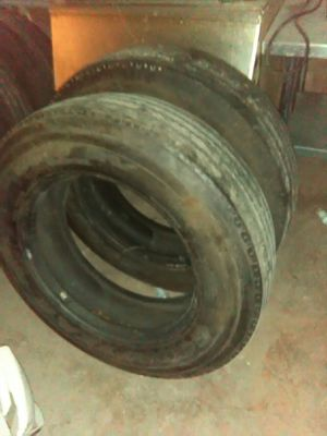 Goodyear commercial truck tires 22.5 90 percent tread for Sale in Largo, FL