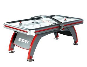 ESPN 84'' Fast-Line Air Powered Hockey Table with 4 pushers and 4 pucks, Gray for Sale in Houston, TX
