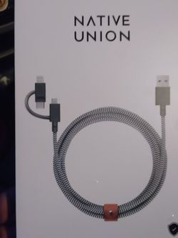Brand New In Box 6 Ft Type C, Lightning, Micro USB Charger $20 for Sale in Puyallup,  WA