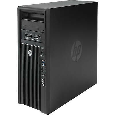HP-Z420 work station with 2 HP Monitors and complete accessories
