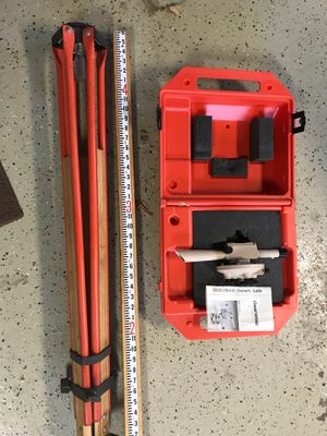 David White level – transit With tripod and rod stick for Sale in Glenview, IL