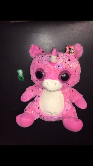 Giant fluffy pink unicorn creature plush for Sale in West Springfield, VA